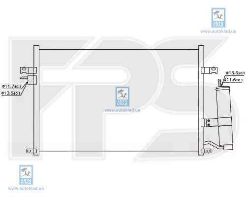 Радиатор кондиционера FPS 17K337