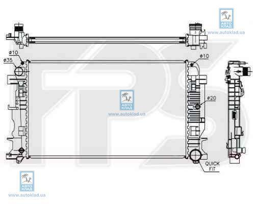 Радиатор охлаждения FPS 46A60X