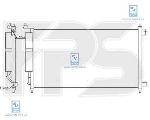 Радиатор кондиционера FPS 50K379