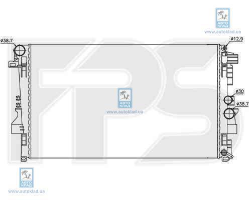 Радиатор охлаждения FPS 46A16X