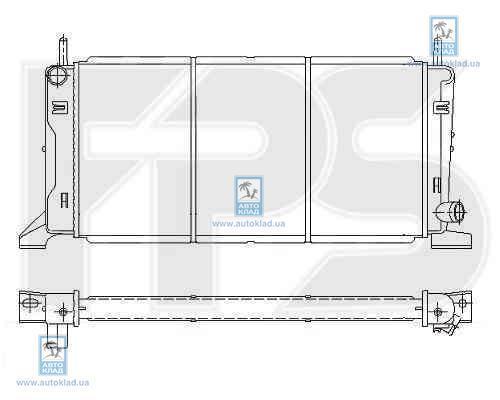 Радиатор охлаждения FPS 28A167