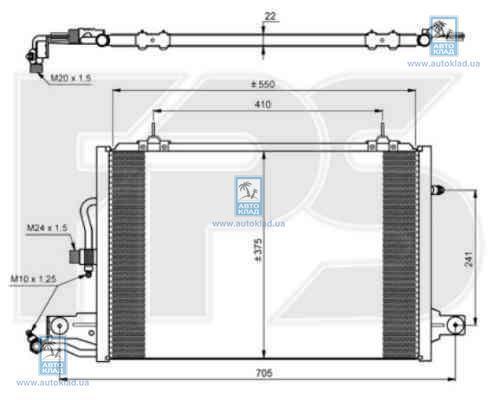 Радиатор кондиционера FPS 12K178X