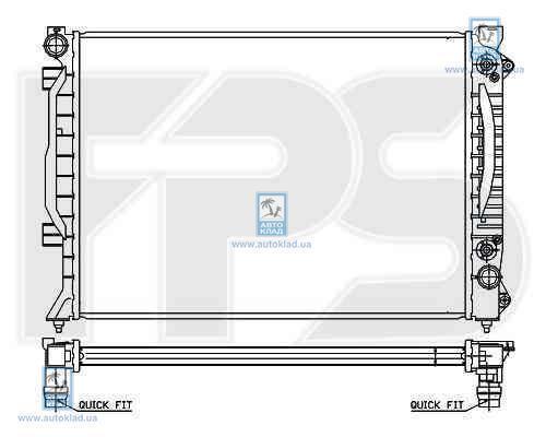 Радиатор охлаждения FPS 12A423X