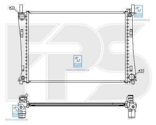 Радиатор охлаждения FPS 28A188X