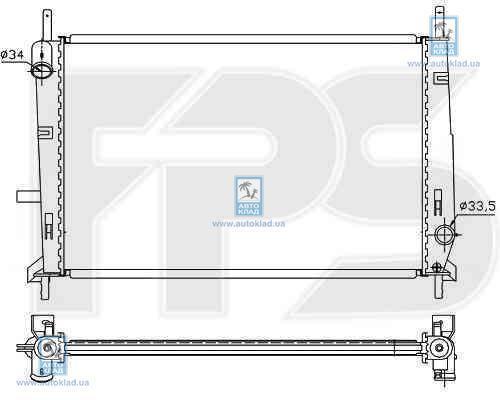 Радиатор охлаждения FPS 28A162