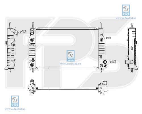 Радиатор охлаждения FPS 28A201