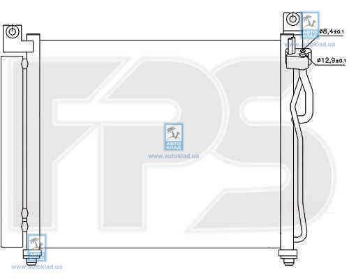 Радиатор кондиционера FPS 40K328X