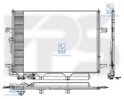 Радиатор кондиционера FPS 46K109