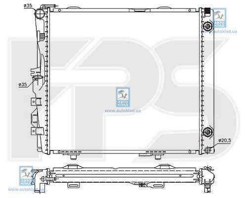 Радиатор охлаждения FPS 46A211X