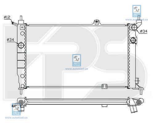 Радиатор охлаждения FPS 52A258