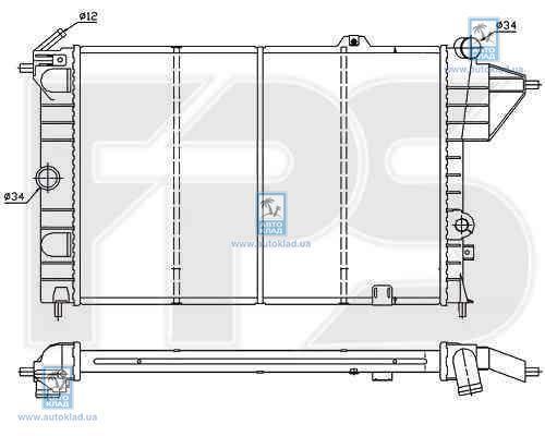 Радиатор охлаждения FPS 52A253
