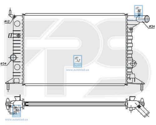 Радиатор охлаждения FPS 52A280X