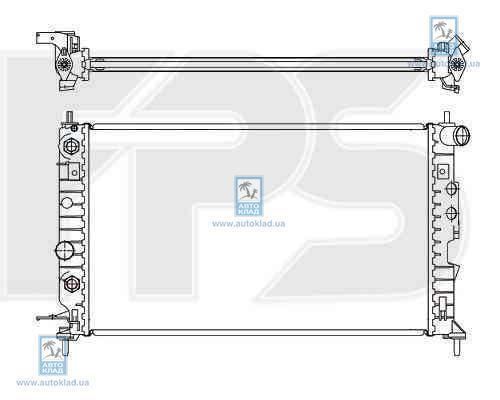 Радиатор охлаждения FPS 52A284X