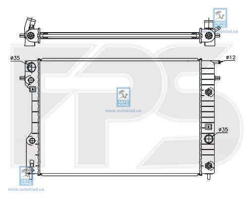Радиатор охлаждения FPS 52A318X