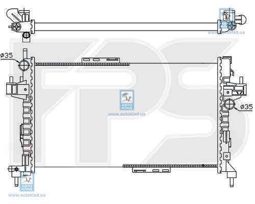 Радиатор охлаждения FPS 52A1081X