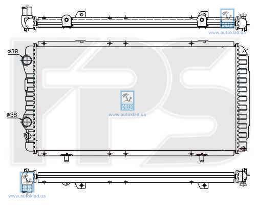 Радиатор охлаждения FPS 20A722X