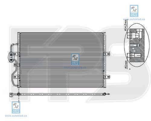 Радиатор кондиционера FPS 54K39X