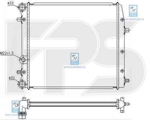 Радиатор охлаждения FPS 74A440