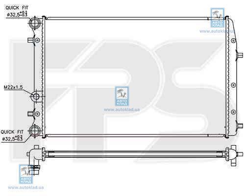 Радиатор охлаждения FPS 64A435