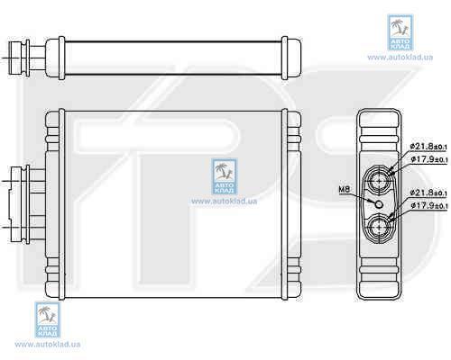 Радиатор отопителя салона FPS 74N175X