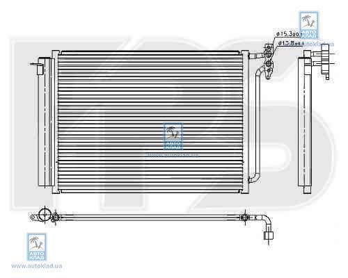 Радиатор кондиционера FPS 14K08X