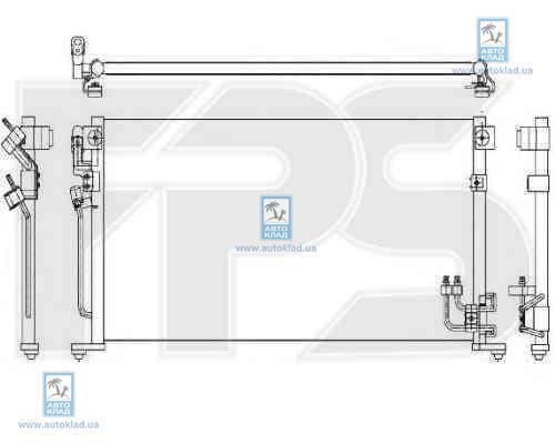 Радиатор кондиционера FPS 48K473