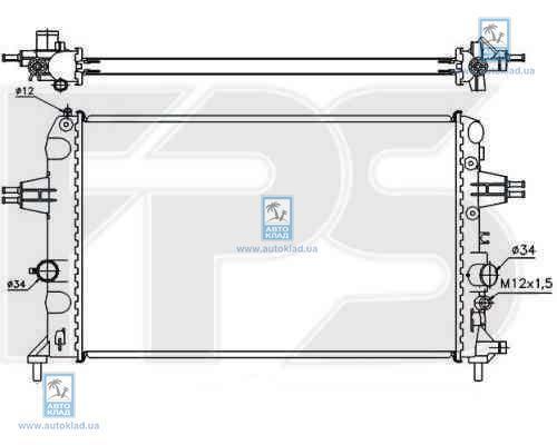 Радиатор охлаждения FPS 52A1088
