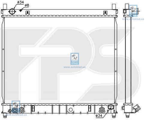Радиатор охлаждения FPS 66A1424