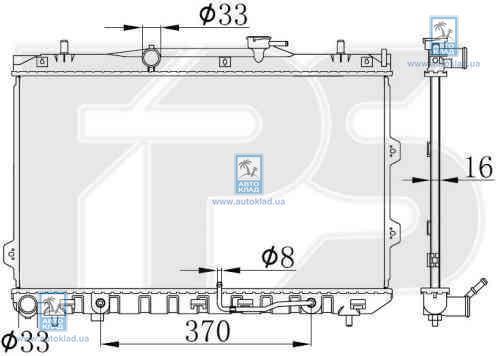 Радиатор охлаждения FPS 40A1435X