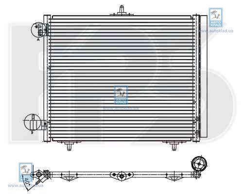 Радиатор кондиционера FPS 20K25X