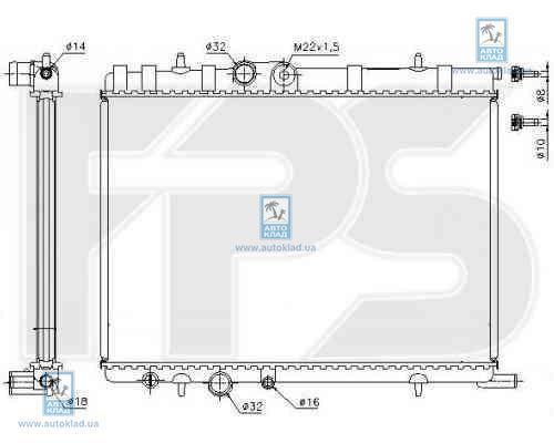 Радиатор охлаждения FPS 20A81