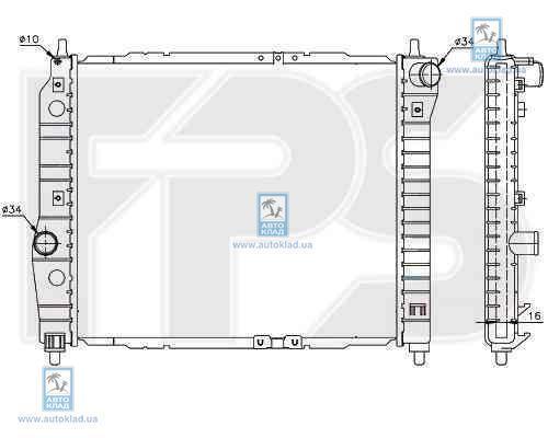 Радиатор охлаждения FPS 17A699P