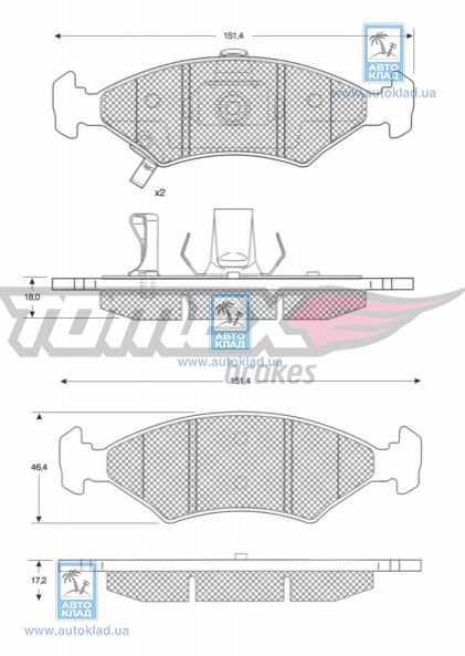 Колодки тормозные TOMEX 1029