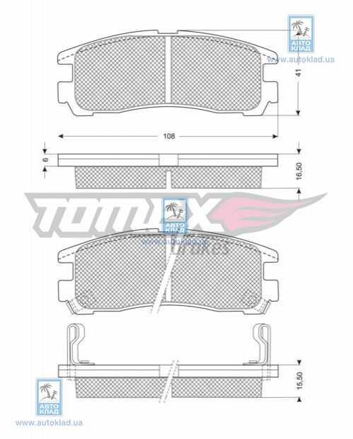 Колодки тормозные TOMEX 1104