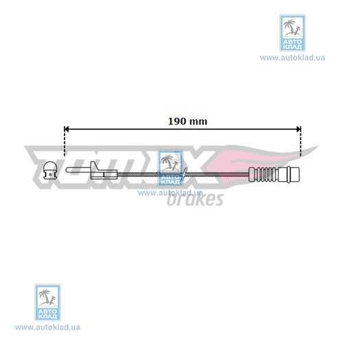 Датчик износа тормозных колодок TOMEX 3009