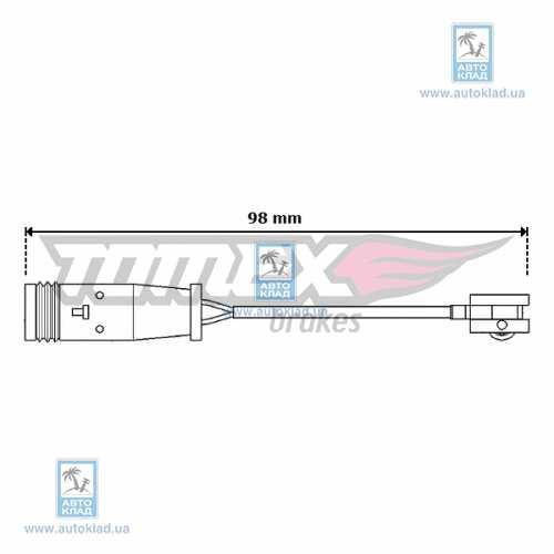 Датчик износа тормозных колодок TOMEX 3064