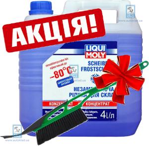 Жидкость омывателя концентрат -80°C 4л со щеткой LIQUI MOLY 8839AK: купить