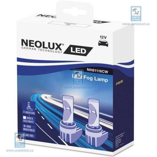 Автолампа LED H8/H11/H16 6000K комплект 2шт NEOLUX NH81116CW: описание