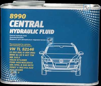 Масло гидравлическое 8990 Central Hydraulic Fluid Metal 0.5л MANNOL MN3012METAL: стоимость