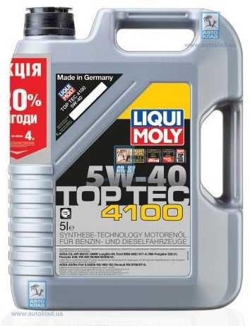 Масло моторное 5W-40 Top Tec 4100 5л LIQUI MOLY 7501: продажа