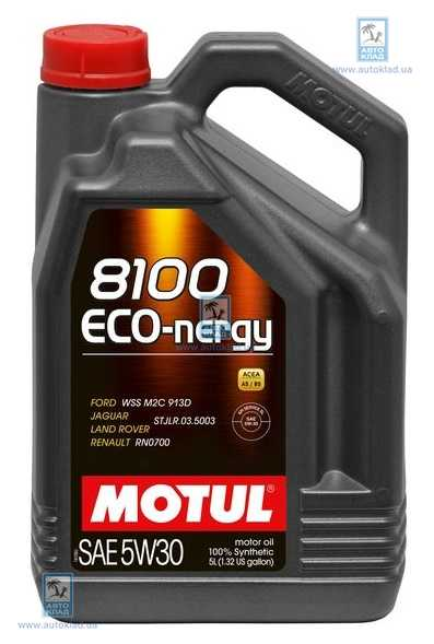 Масло моторное 5W-30 8100 Eco-Nergy 5л MOTUL 812306: купить