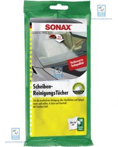 Салфетка для стекол 10шт SONAX 415000: описание