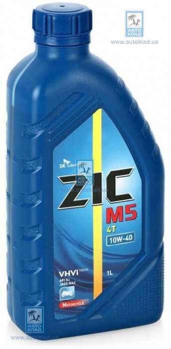 Масло для 4T двигателей 10W-40 M5 4Т 1л ZIC 137212: продажа
