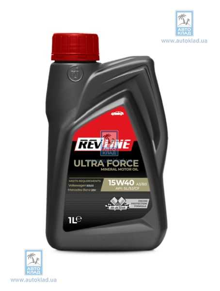 Масло моторное 15w-40 ULTRA Force Mineral 1л REVLINE MINERAL15W401L: описание