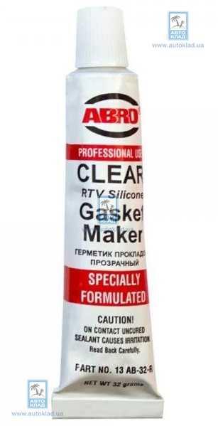 Герметик прокладок прозрачный CH 32г ABRO 13ABCH32R: цена