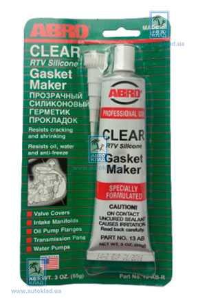 Герметик прокладок прозрачный CH 85г ABRO 13ABCH: купить