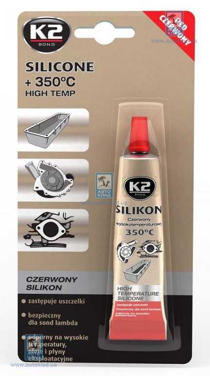 Герметик силиконовый красный 85г K2 B240: стоимость