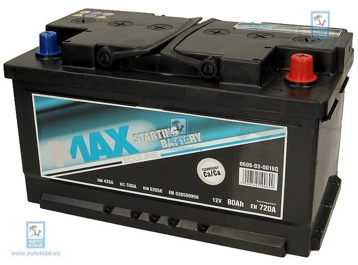 Аккумулятор 80Ач 720A Ecoline 4MAX 0608030018Q