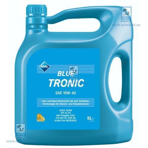 Масло моторное 10W-40 BlueTronic 5л ARAL ARALBT10W40L5: цена