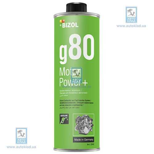 Очиститель бензиновой системы Motor Power+ g80 0.25л BIZOL B2342: описание